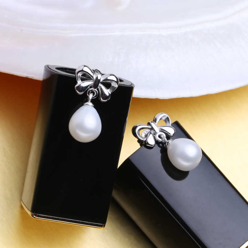 FENASY Trendy Pearl Jewelry sets natural Pearls Bowknot Earrings Pendant necklace wedding Engagement For love Jewelry With Box