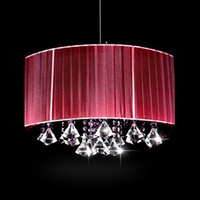 Creative personality Wire Drawing Hanging light modern oval luster K9 crystal Chandeliers Living room with room lights