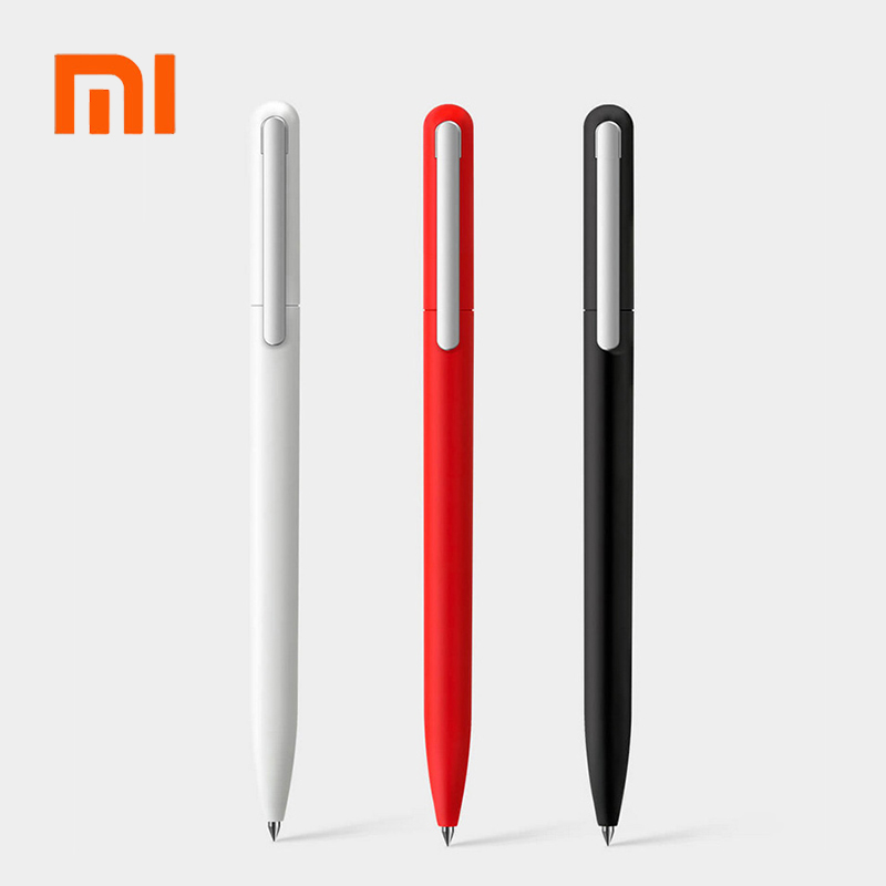 3pcs Original Xiaomi Pen Pinluo Signing Pen 9.5mm 0.5 Ink Smooth Switzerland Refill MiKuni Japan Ink Add Mijia Pen Black Refill
