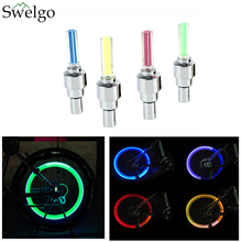 Swelgo Led bike Bicycle Lights 2pcs Wheel Tire Valve's Bike Accessories Cycling Led Bycicle Accessories LED Flash Lamp Lights
