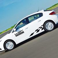 Body Car styling Racing and Lattice Stickers Word Rally Car Sticker and Decals for ford focus 2/vw/kia rio/mazda 3/skoda/cruz