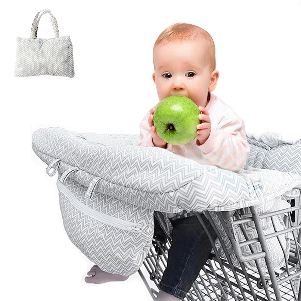 Baby Shopping Cart Baby Seat Cover Protection Cover Trolley Soft Pad Infant Dining Chair Seat Cushion With Safety Belt-in Shopping Cart Covers from Mother & Kids