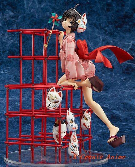 Free shipping 5pcs newest anime Nisemonogatari Araragi Tsukihi action pvc figure doll tall 23cm with box via DHL/EMS. japan good smile araragi tsukihi nisemonogatari 1 8 scale pvc anime cartoon doll action figure collectible model toy t5733