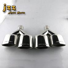 1 satz (2 stücke) Edelstahl Auto Stille Auspuffrohr Doppelschräg Gerollt Endrohren Schalldämpfer Tails Spitze