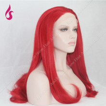 Medium Long Red Natraul Straight Synthetic Lace Front Wig For Sexy Women Cosplay Style !!