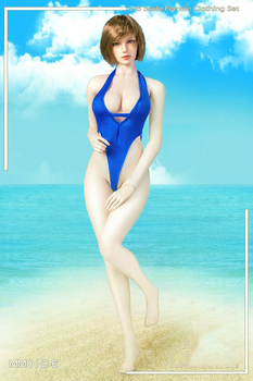 Sexy girl bikini 1/6 Scale Female Womens Open chest swimsuit for TBLeague Large bust seamless body