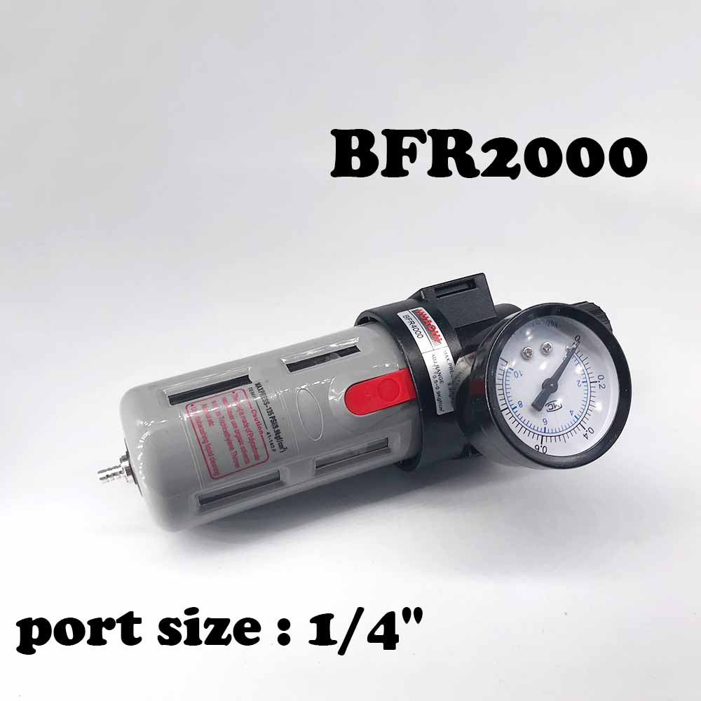 BFR2000 Air processor Free Shipping 1/4 Pneumatic Source Treatment Unit  , Air Filter Pressure Regulator air unit pneumatic source treatment g1 4 afc2000