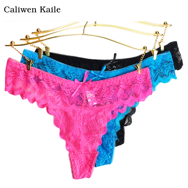 6Colors Lace Womens Sexy Thongs G String Underwear -7628