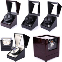 Wooden Colorful Adjust Rotate Silient Watch Winder 2 Box Case Mabuchi Motor Mechanism Watches Display&Storage Cabinet Global Use