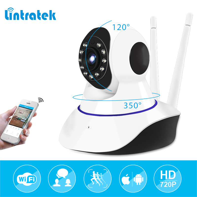 lintratek Network Security Camera P2P Wifi IR-Cut IP Camera 2 Ways Audio Wireless CCTV Surveillance Camera 720P Baby Monitor Cam