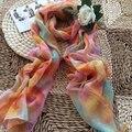 Многоцветный Зима Шарфы Женщины Бренд Шарф Дизайнер Полиэстер Платки Шарф Пашмины Orange Пляжное Полотенце BL-0083