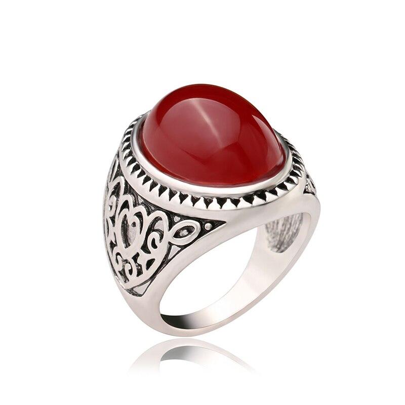 Utimtree Кольца для Женщины Свадебные украшения Мода Древний серебряный Цвет Обручение Promise Ring Lover аксессуар День святого Валентина