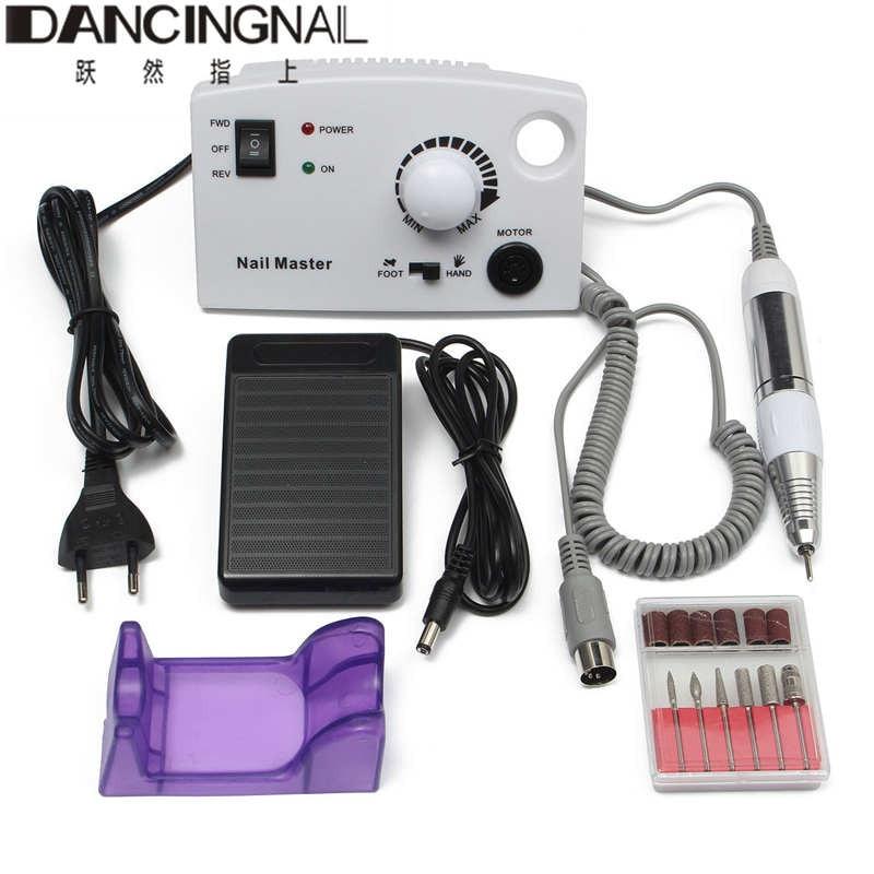 ФОТО New White Professional 30000RPM Electric Nail Drill File Tip Salon Machine Manicure Set High Quality