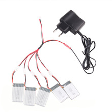 High Quality 3.7V 650mah Li-po Battery for X5C X5C-1 X5SW X5SC RC Quadcopter Spare Parts Power Adapter Charger