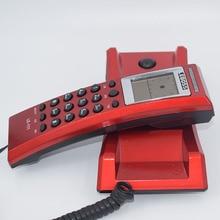 Hotel de Baño de Escritorio En Casa de Teléfono de IDENTIFICACIÓN de Llamadas Pequeña Pared de la Cabecera de Extensión de La Batería Teléfonos de Línea Fija de Teléfono De Casa Rojo Negro