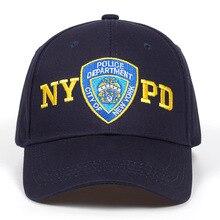 bd00be4d4fb4f 2019 nuevo policía bordado gorra de béisbol al aire libre para el sol  ajustable 100% de pareja de algodón sombrero de Hip Hop so.
