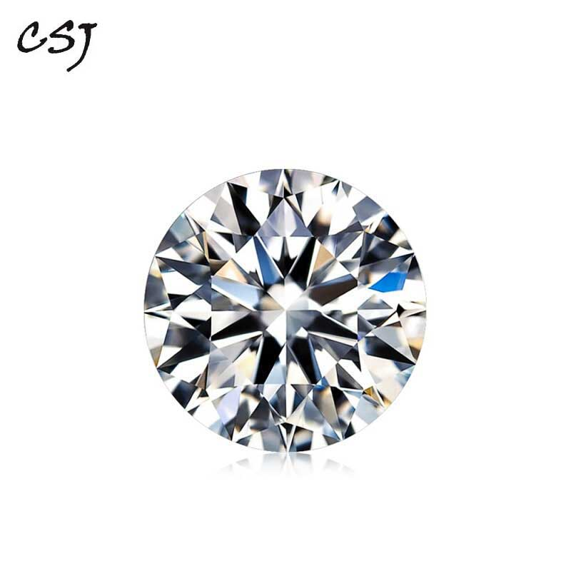 CSJ Round Brilliant Cut Moissanite 1 Carat 6.5mm D Color Moissanite Loose Gemstone Syn. Diamonds Stone High QualityCSJ Round Brilliant Cut Moissanite 1 Carat 6.5mm D Color Moissanite Loose Gemstone Syn. Diamonds Stone High Quality