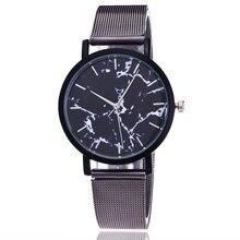 Mármore Estilo Malha cinto Mulheres Relógio de Quartzo Homens Marca de Topo Relógios Moda Casual Relógio de Pulso Esporte Amantes Venda Quente Relojes