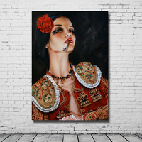 Smoking girl sexy dressing hot body nude pictures handmade oil painting canvas paintings for home