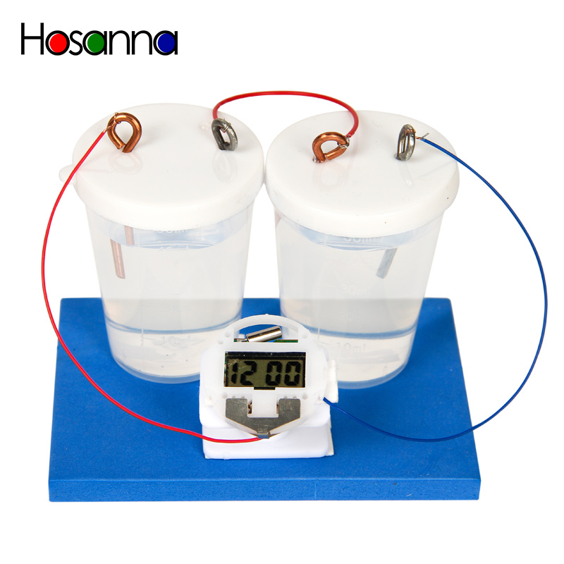 Hosanna Kids liquid Water Battery Clock Electric Experiment Fun Science Toys Kit Learning Physics Educational Toys for Children