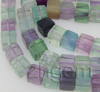 Natural Cube Green Crystal Loose Beads 6 Mm 15 5 Long