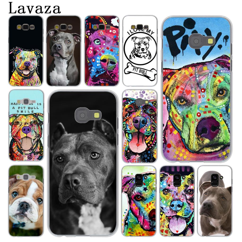 Lavaza Pitbull <font><b>dog</b></font> Hard <font><b>Phone</b></font> <font><b>Case</b></font> for <font><b>Samsung</b></font> <font><b>Galaxy</b></font> Note 10 9 8 A9 A8 A7 A6 Plus 2018 <font><b>A3</b></font> A5 <font><b>2017</b></font> 2016 2015 A2 Cover image