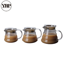 YRP 360ml 450ml 800ml V60 Pour Over Glass Range Coffee Server Carafe Drip Pot Kettle Brewer Barista Percolator Clear Tool