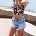 2017 New Jeans Women Short Hole Jeans Shorts Casual Sexy Ripped Jeans Big Hole Denim Shorts Size