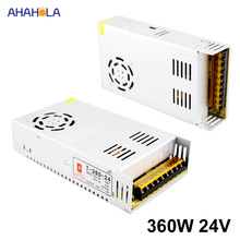 AC 220 ボルトに 24 ボルト Dc 電源 24 ボルト 15a 360 ワット出力スイッチング電源 24 ボルト 15a 360 ワット Smps 源は、電源 24 ボルト