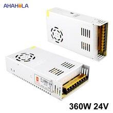 AC 220 โวลต์ถึง 24 โวลต์ Dc 24 โวลต์ 15a 360 วัตต์การสลับแหล่งจ่ายไฟ 24 โวลต์ 15a 360 วัตต์ Smps แหล่ง Led แหล่งจ่ายไฟ 24 โวลต์