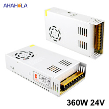 AC 220v to 24v Dc Power Supply 24v 15a 360w Output Switching power supply 24v 15a 360w Smps Source Led Power Supply 24 v