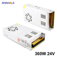 AC 220v to 24v Dc Power Supply 24v 15a 360w Output Switching power supply 24v 15a 360w Smps Source Led Power Supply 24 v