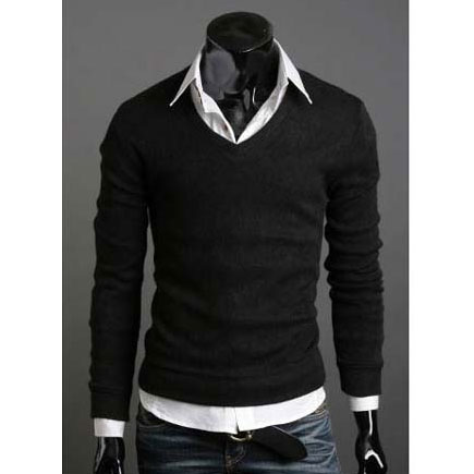 2015 Spring Men's Sweater, Pullover Mens Dress Shirts Plus Size ...