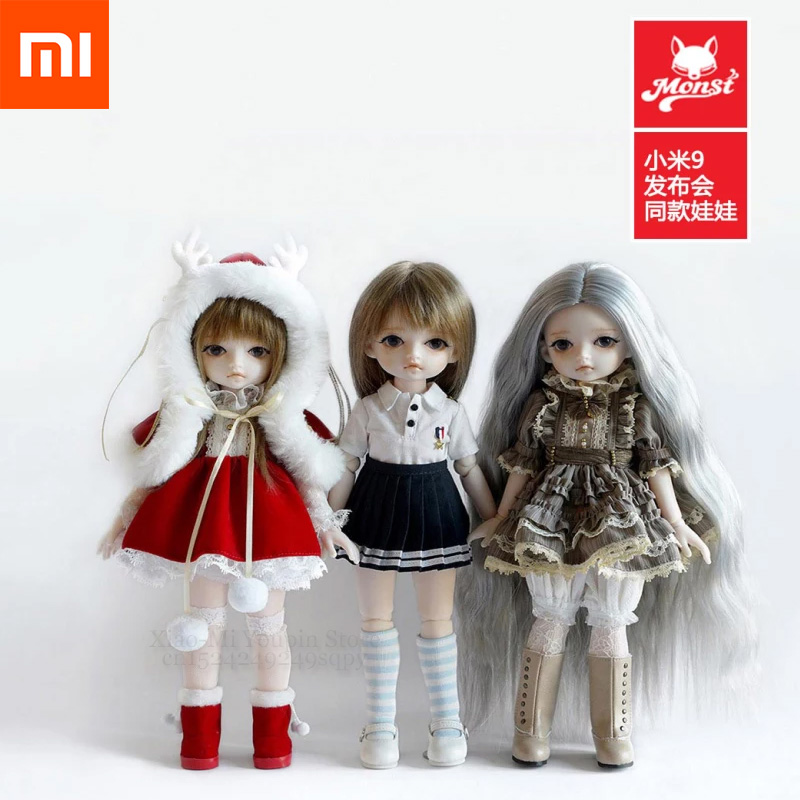 Xiaomi Mijia Little Cola Simulation Moe Ragdoll Joint Body Fashion BJD Doll 30cm Factory Dolls Toys