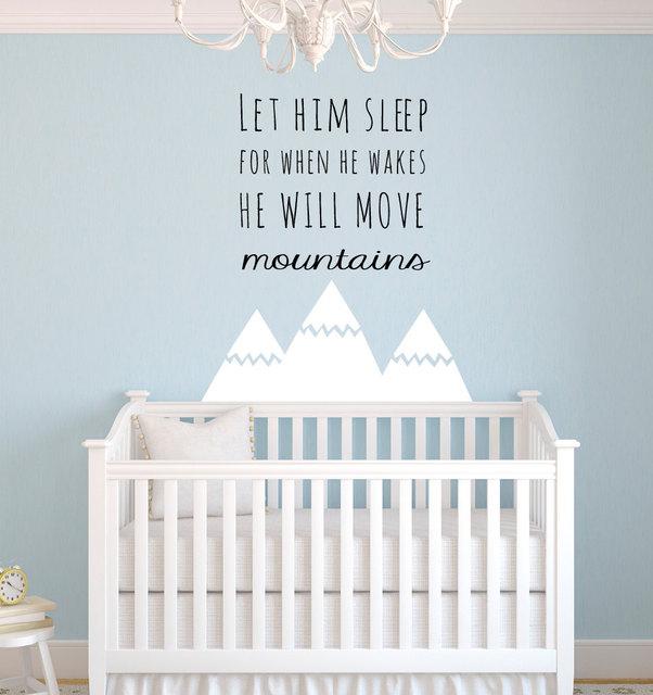 Style nordique Montagnes Citations Wall Sticker pour Enfants Chambre ...