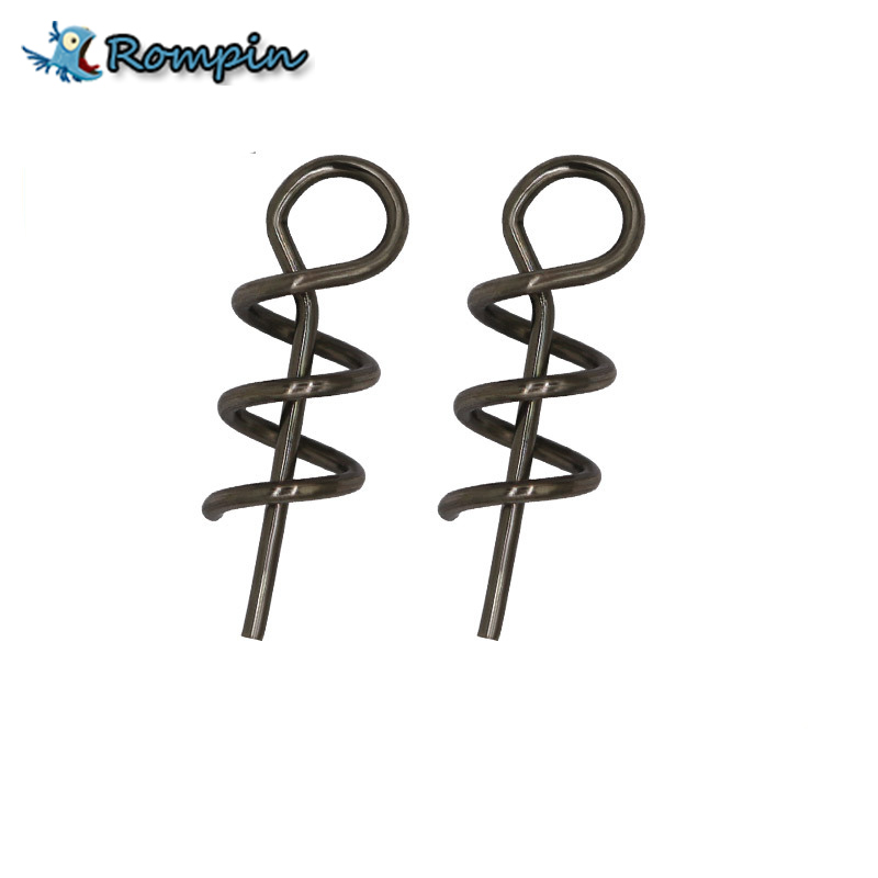 Rompin 100pcs/lot High Carbon Steel Spring Lock Needle Fix Worms Soft Lures Pin