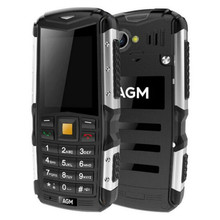 "AGM M1 Cellphone Tri-proof 2.0"" 128MB+64MB 2.0MP 2570mAh IP68 Waterproof Telephone 3G GSM WCMA Russian Button Mobile Phone M2"