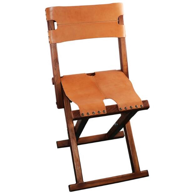 Lightweight Portable Wood Folding Chair With Leather Seat&Backrest For  Indoor/Outdoor Furniture Camping Fishing Chair Foldble-in Beach Chairs from  Furniture ... - Lightweight Portable Wood Folding Chair With Leather Seat&Backrest