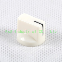 10pcs DIY 17*15mm White ABS Plastic Knobs for D shaft Guitar Amp Effect Pedal Stomp Box