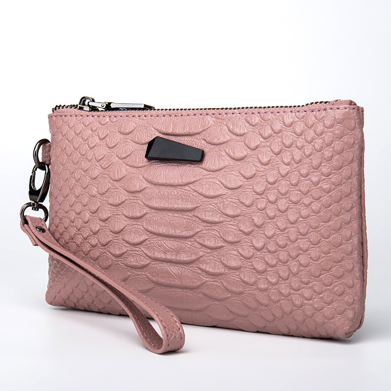 Day Clutches Wrist-Bag Cellphone-Bag Crocodile-Pattern Designer Genuine-Leather Women