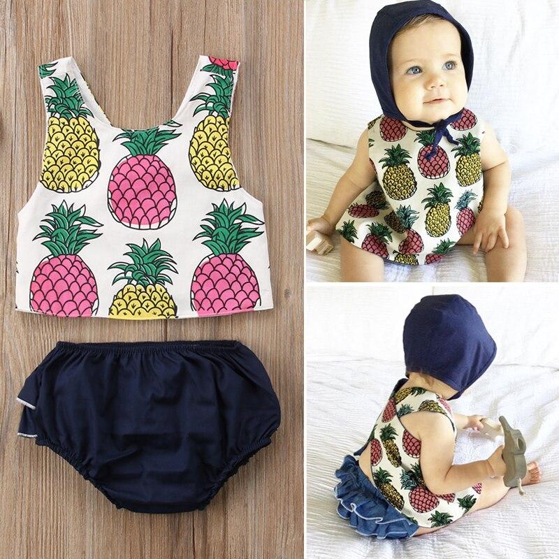 2 шт.. Для новорожденных Одежда для младенцев Одежда для девочек без рукавов топы Корректирующие + клетчатый Triang