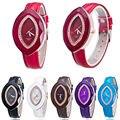 Las mujeres de Lujo de Las Señoras Relojes de Moda Las Niñas Rhinestones Oval Reloj de Cuarzo
