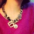 Canal CC Gargantilla Collar Llamativo Para Las Mujeres Famosa Marca de Joyería de Rosa 5 de La Perla de Resina de Big Chunky Collares Bijoux Collier Femme