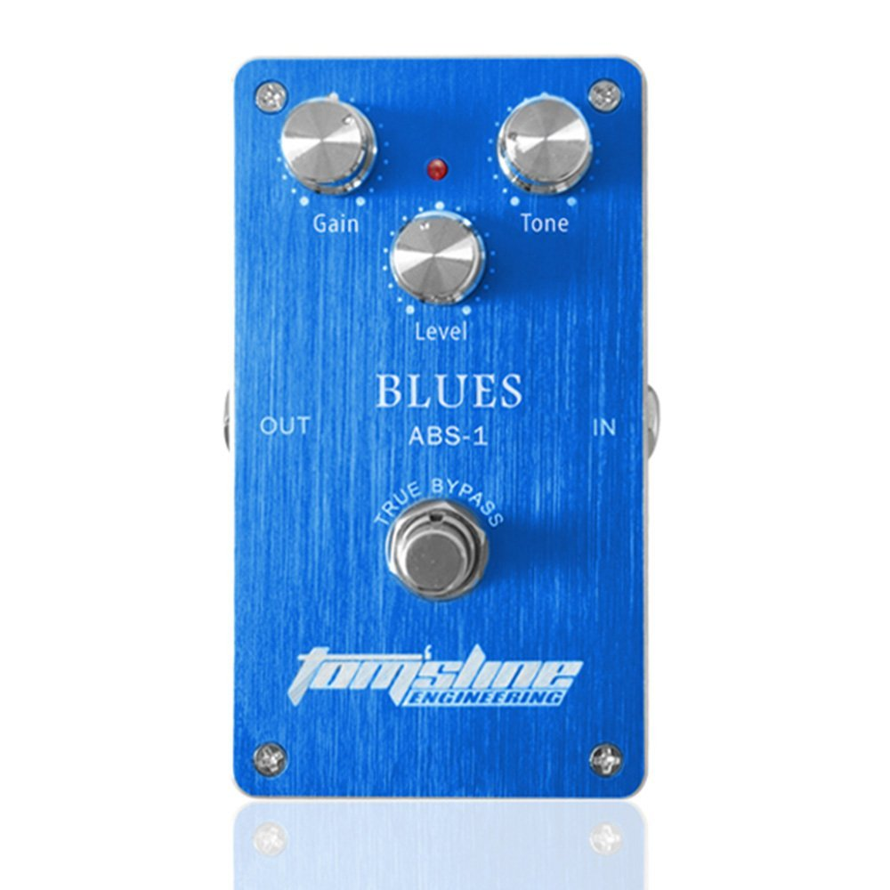 Aroma ABS-1 Blues Distortion True Bypass Electric Guitar Effect Pedal with Aluminum Alloy Housing aroma tom sline abr 3 mini booster electric guitar effect pedal with aluminum alloy housing true bypass durable guitar parts