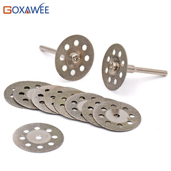 25mm accesorios dremel rueda de molienda de diamante 10 Uds mini disco de corte de sierra circular disco abrasivo de diamante herramienta giratoria dremel