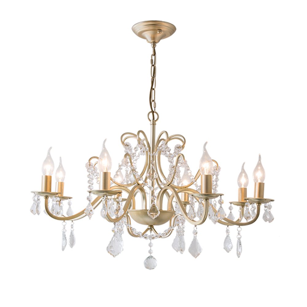 Luxury Gold Crystal Chandeliers Re Lampadario Vintage Ac110v 220v Crystals Dinning Room Chandelier Hallway Lights