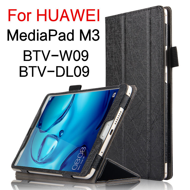 Case For Huawei Mediapad M3 8.4 Inch Smart Cove Faux Leather Tablets PC Protective Case For Huawei M3 BTV-W09 BTV-DL09 Protector