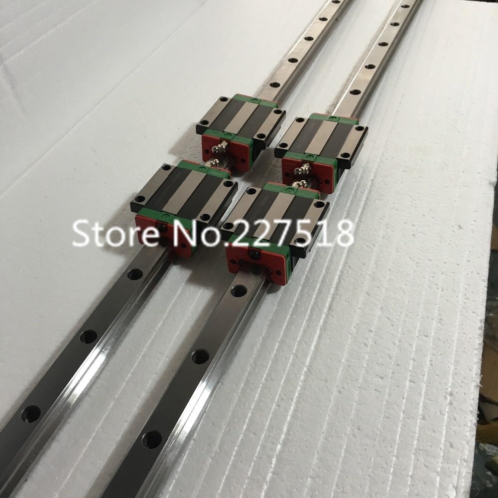 25mm Type 2pcs  HGR25 Linear Guide Rail L1500mm rail + 4pcs carriage Block HGW25CC blocks for cnc router25mm Type 2pcs  HGR25 Linear Guide Rail L1500mm rail + 4pcs carriage Block HGW25CC blocks for cnc router