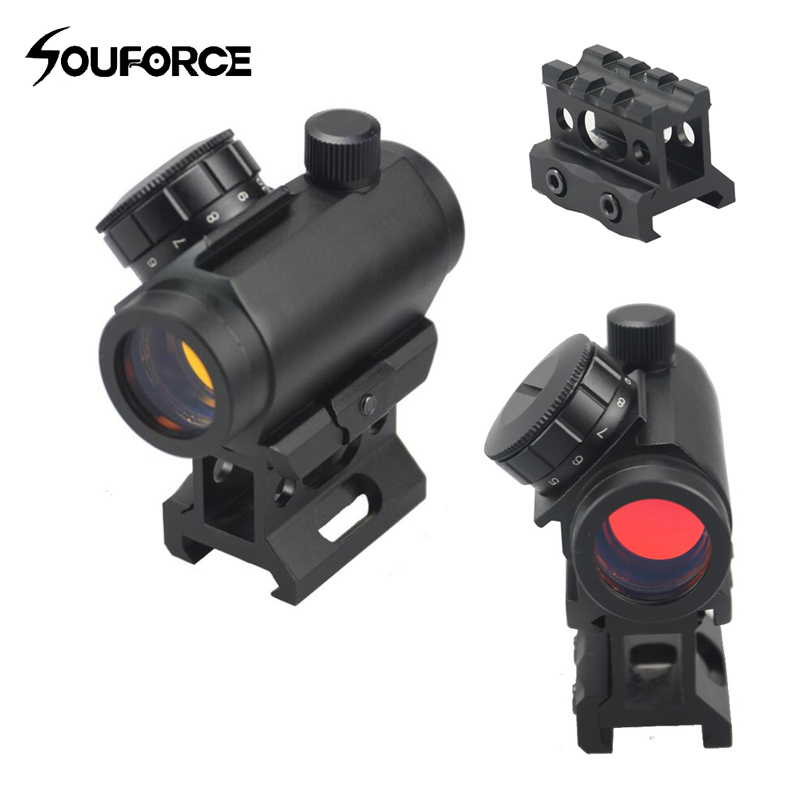 Tactical 1x28 Mm Optics Red Dot Scope Sight Fit For Rifles Scope Hunting In Low High Rail Mount