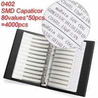 Hot New 1Pc 0.5% 0402 SMD Capacitor Sample Book 80Valuesx50Pcs 4000Pcs Capacitors Assortment Kit Sample Kit for Sale